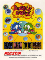 Bubble Bobble — 1986 at Barcade® in Detroit, Michigan | Game flyer graphic