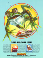 Frogger — 1981 at Barcade® in Detroit, Michigan | arcade video game flyer graphic