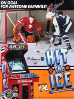 Hit the Ice — 1990 at Barcade® in Detroit, Michigan | arcade video game flyer graphic