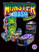 Monster Bash (pinball) — 2018 at Barcade® in Detroit, Michigan | arcade video game flyer graphic