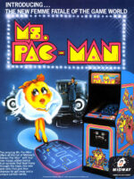 Ms. Pac-Man — 1981 at Barcade® in Detroit, Michigan | arcade video game flyer graphic
