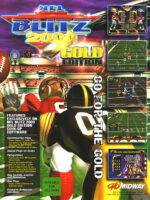 NFL Blitz 2000 Gold Edition — 1999 at Barcade® in Detroit, Michigan | arcade video game flyer graphic