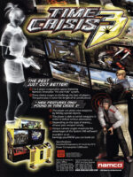 Time Crisis 3 — 2002 at Barcade® in Detroit, Michigan | arcade video game flyer graphic